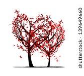 trees of love for your design | Shutterstock .eps vector #139649660