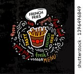 tasty french fries  fast food...   Shutterstock .eps vector #1396496849