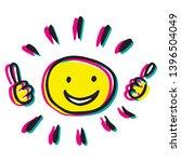 creative sun vector... | Shutterstock .eps vector #1396504049