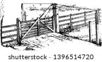 Wooden Locking Gate Entry Exit...