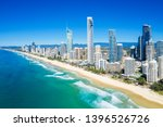 sunny view of surfers paradise... | Shutterstock . vector #1396526726