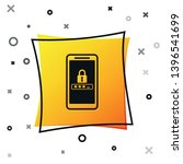 black mobile phone and password ... | Shutterstock .eps vector #1396541699