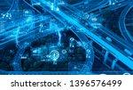 transportation and technology... | Shutterstock . vector #1396576499
