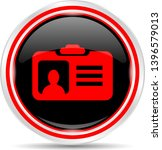 id badge icon. round metal web... | Shutterstock .eps vector #1396579013