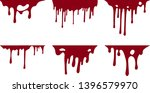 hand drawn collection of blood... | Shutterstock .eps vector #1396579970