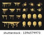 big set of hand drawn golden... | Shutterstock .eps vector #1396579973