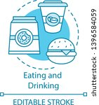 eating and drinking concept... | Shutterstock .eps vector #1396584059