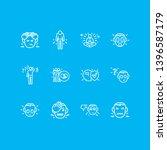 vector illustration of 12 emoji ... | Shutterstock .eps vector #1396587179