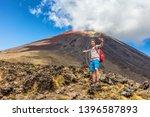 Hiking Man On New Zealand...