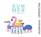 Summer With Pink Flamingo ...