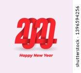 happy new year 2020 design logo ... | Shutterstock .eps vector #1396594256