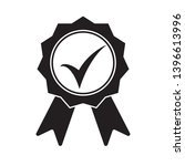 black icon approved or... | Shutterstock .eps vector #1396613996