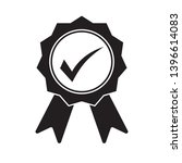 black icon approved or... | Shutterstock .eps vector #1396614083