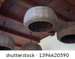 large hanging lamp shades.... | Shutterstock . vector #1396620590