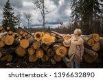 portrait of young girl throwing ... | Shutterstock . vector #1396632890