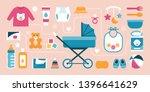 newborn baby care accessories... | Shutterstock .eps vector #1396641629
