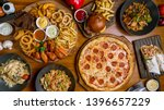 assorted set from pizza... | Shutterstock . vector #1396657229