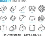 set of bakery line icons  such... | Shutterstock .eps vector #1396658786
