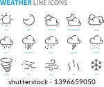 set of weather icons  cloudy ... | Shutterstock .eps vector #1396659050
