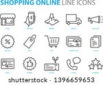 set of shopping icons  such as... | Shutterstock .eps vector #1396659653