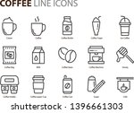 set of coffee line icons  such... | Shutterstock .eps vector #1396661303