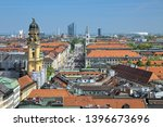 munich  germany. view from... | Shutterstock . vector #1396673696