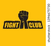 fight club vector logo with... | Shutterstock .eps vector #1396675730