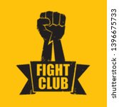 fight club vector logo with... | Shutterstock .eps vector #1396675733