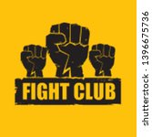 fight club vector logo with... | Shutterstock .eps vector #1396675736
