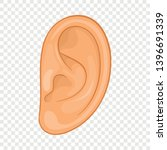 ear icon. cartoon illustration... | Shutterstock .eps vector #1396691339