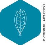 bay leaves icon. outline... | Shutterstock .eps vector #1396694996