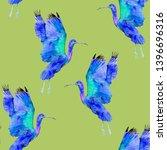 blue ibis watercolour... | Shutterstock . vector #1396696316