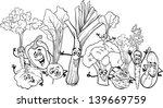 black and white cartoon vector... | Shutterstock .eps vector #139669759