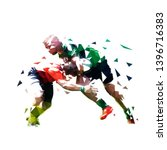 rugby players  isolated low... | Shutterstock .eps vector #1396716383