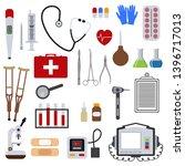 medicine and health tools... | Shutterstock . vector #1396717013