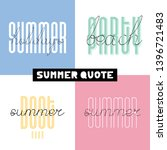summer hand drawn brush font... | Shutterstock .eps vector #1396721483