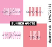 summer hand drawn brush font... | Shutterstock .eps vector #1396721486