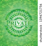 private realistic green mosaic... | Shutterstock .eps vector #1396721756