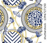 chain seamless pattern with... | Shutterstock .eps vector #1396727150