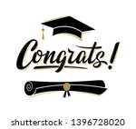 congrats  greeting sign for... | Shutterstock .eps vector #1396728020