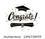 congrats  greeting sign for... | Shutterstock .eps vector #1396728959
