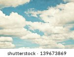 Vintage Clouds And Sky...