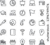 thin line icon set   speaking... | Shutterstock .eps vector #1396749476