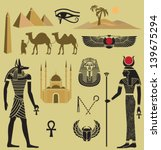 egypt symbols and  landmarks  ... | Shutterstock .eps vector #139675294