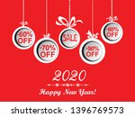 2020 happy new year. sale.... | Shutterstock .eps vector #1396769573