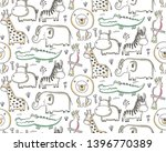 vector seamless pattern with... | Shutterstock .eps vector #1396770389