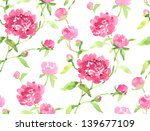 watercolor seamless pink... | Shutterstock . vector #139677109