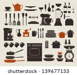 kitchen appliances  utensils... | Shutterstock .eps vector #139677133