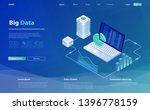 data analysis concept  modern... | Shutterstock .eps vector #1396778159