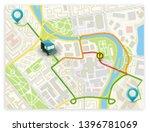 isometric city map navigation ... | Shutterstock .eps vector #1396781069